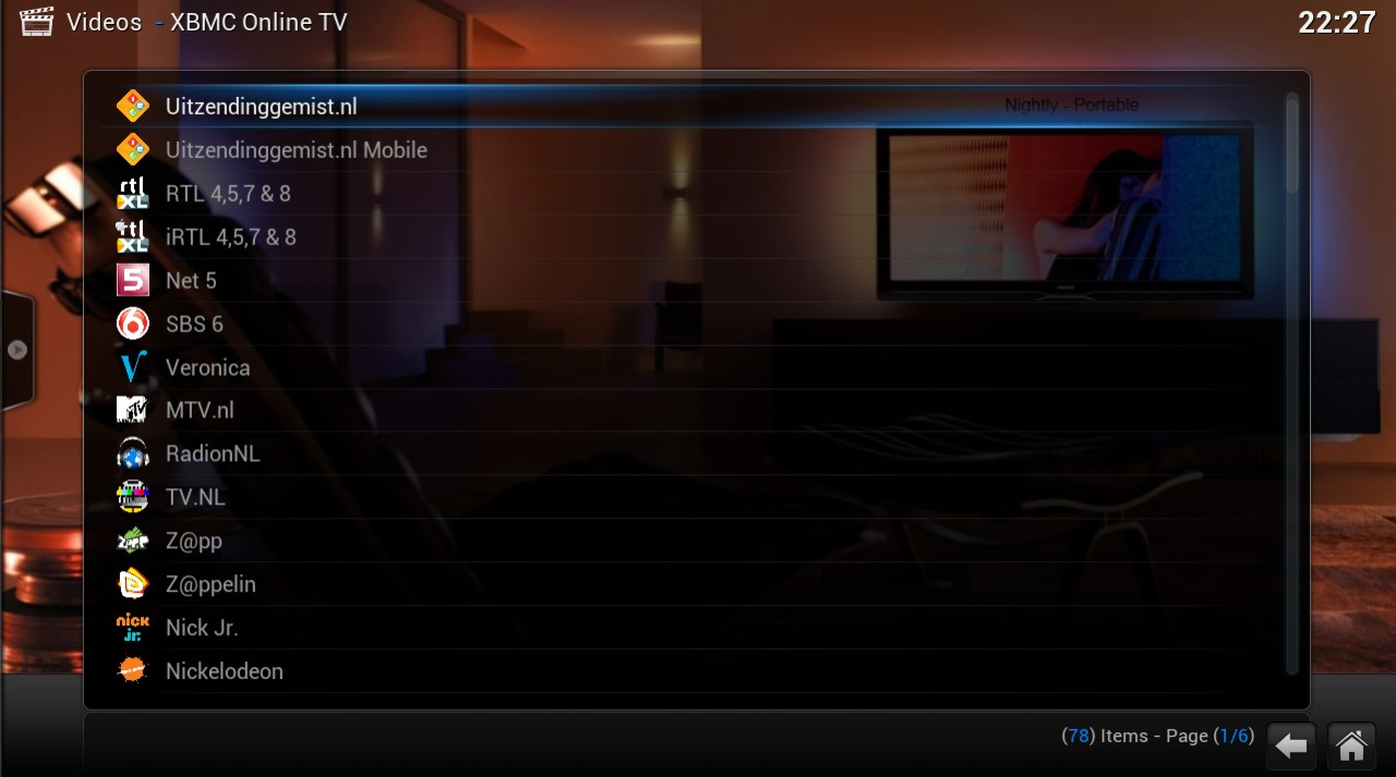 Retrospect – Online TV for Kodi | Rieter NET